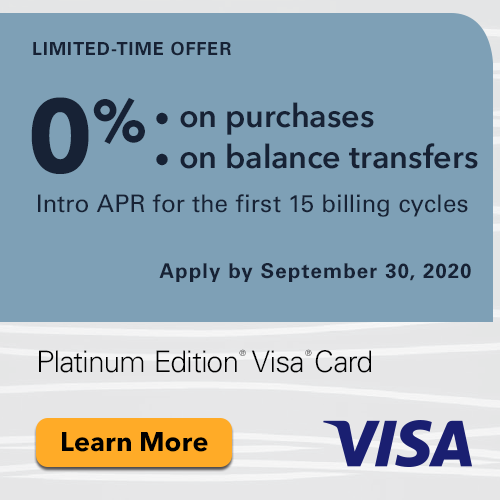 Platinum Edition Visa Card Limited Time Offer